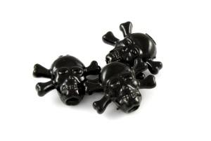 Allparts Black Skull Buttons